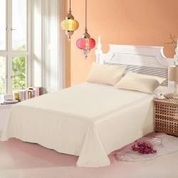 Промо комплект чаршаф с 2 броя калъфки за възглавница - 100% Памук - Cream