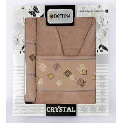Комплект Халат и 2 бр. кърпи - Luxury Series - Brown