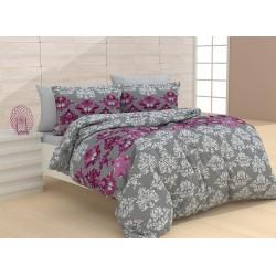 Стилно спално бельо - Vanetti Purple  - 100% Памук