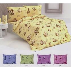 Комплект спални чаршафи Gentle Lilies - памук