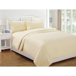 Монохномен комплект спално бельо - Dynasty Еcru