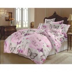 Стилно спално бельо - Памук - Romantic Letter Pink