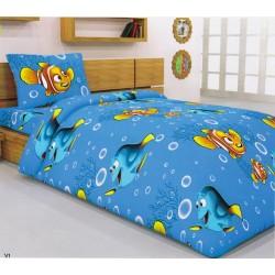 Забавен спален комплект за детски матрак Captain Nemo