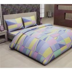 Комплект спални чаршафи Funny Figures - памук