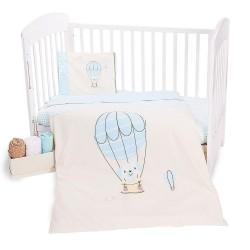 Спално бельо за бебе Ранфорс - Dog in Balloon