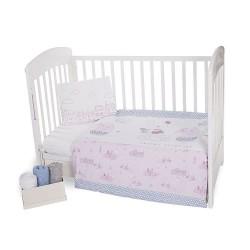 Уютно спално бельо за бебе - 100% Ранфорс Памук -Together Forever