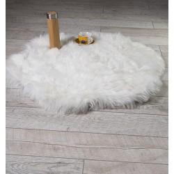Стилно кръгло килимче White Rug