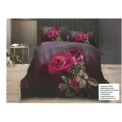 Уникално спално бельо 3D - 100% Сатениран Микрофибър - Fresh Rose