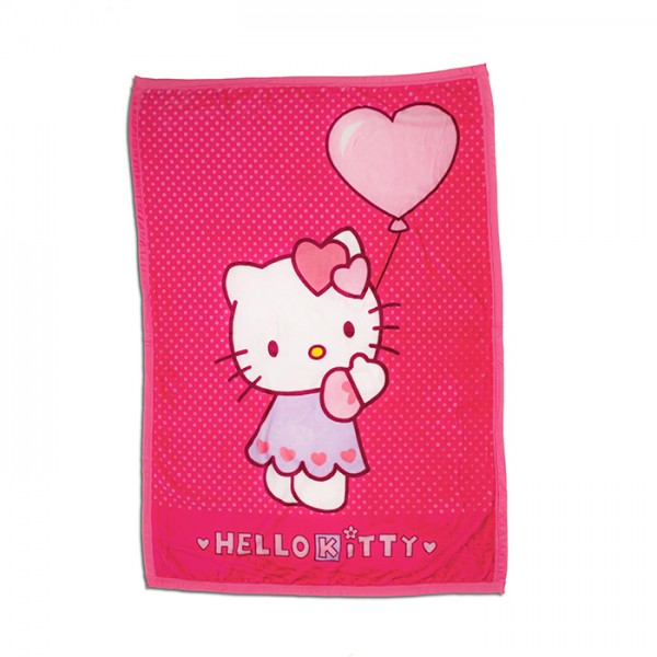 Супер меко одеяло за дете Hello Kitty