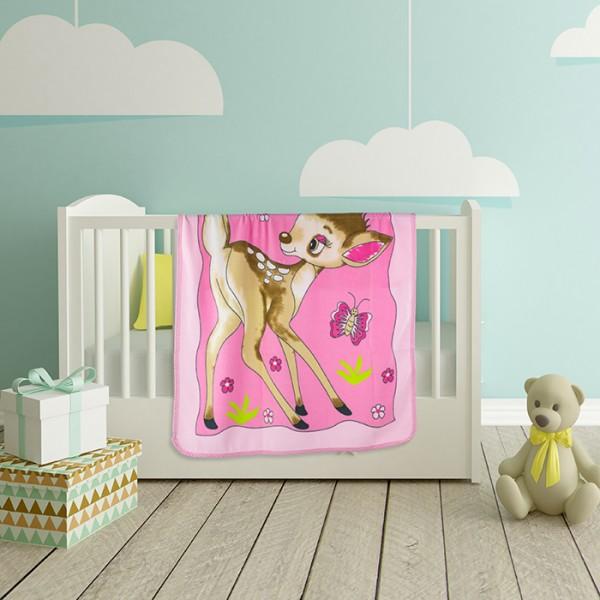 Одеяло за бебе Deer Pink