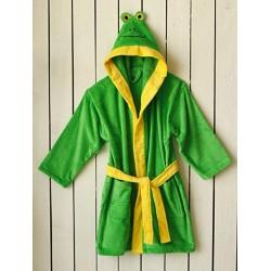 Луксозен халат за дете - 100% Фин Памук - Frog