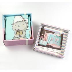 Луксозно спално бельо за бебе - 100% Ранфорс Памук Премиум - Cute Kitty