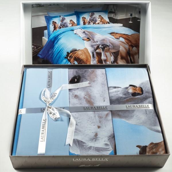 3Д Спален комплект - 100% Бамбук&Сатен - Horses
