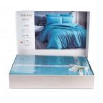 Модерно спално бельо - Сатен&Бамбук- Sea Blue
