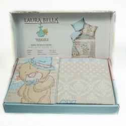 Памучно бебешко спално бельо - 100% Памук Ранфорс - Pansy