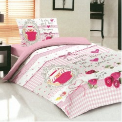 Модерно спално бельо за юноши - Памук Ранфорс - Latisha