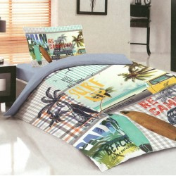 Модерно спално бельо за юноши - Памук Ранфорс - Surf