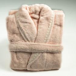 Дамски домашен халат с бродерия Рeach Lux