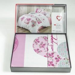 Eлегантно спално бельо - 100% Памук Ранфорс Премиум - Rosy