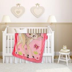 Топло бебешко одеяло Deer Pink