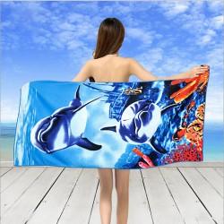 Кърпа за плаж Blue Sea Delphines