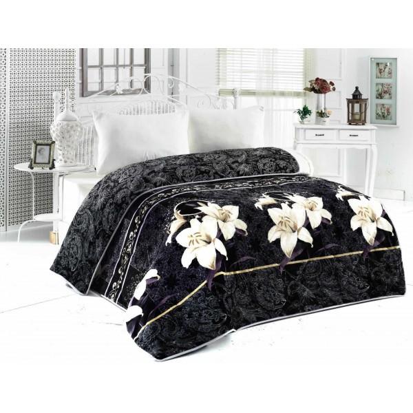 3в1 плюшено одеяло, олекотена завивка и шалте - 100% Силиконов Пух - Orchid