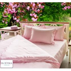 Спален комплект бельо - Памучен сатен - Розов