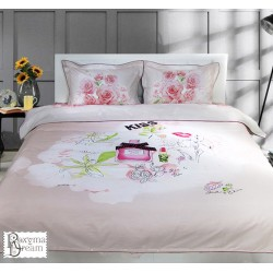 Комплект спално бельо - Памучен сатен - Ухание на Рози