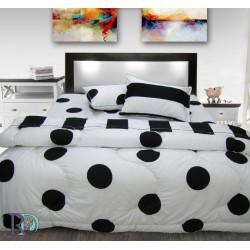 Практичен спален комплект с олекотена завивка - 100 % Памук - Points / Stripes