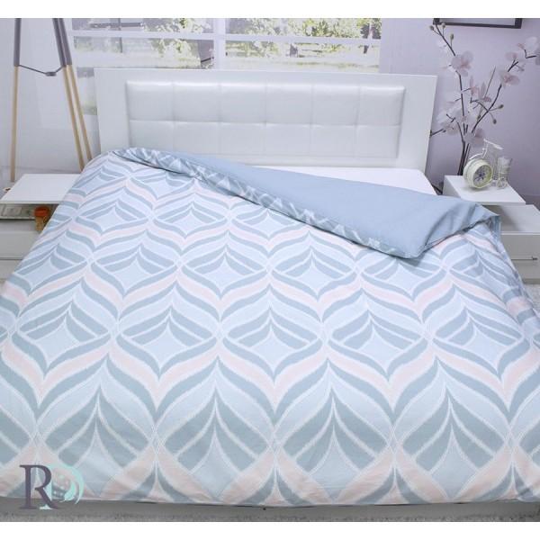 Дизайнерски плик за завивка - 100% Памучен Сатен - Amy Aqua