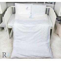 Забавен спален комплект за бебе - 100% Памук - Blue Boats