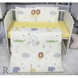 Луксозно спално бельо за бебе - 100% Памучен Сатен - Lion
