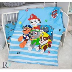 Луксозно спално бельо за бебе - 100% Памучен Сатен - Paw Patrol