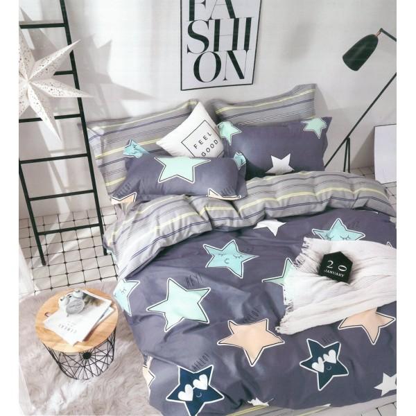 Изискано спално бельо - 100% Памучен Сатен - Star Sky