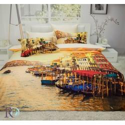 Романтичен спален комплект 3D - 100% Памучен Сатен - Chapot