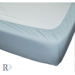 Комфортен чаршаф с ластик - 100% Памучен Сатен - Lady Aqua