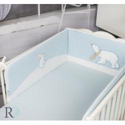 Оригинален обиколник за бебешка легло - 100% Фино Трико - White Whelps