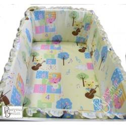 Обиколник за бебешко креватче - 100% Памук - Funny Figures