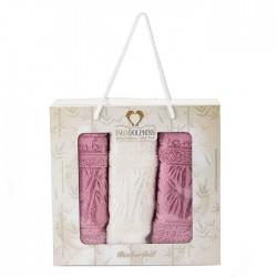 Подаръчен комплект от три броя кърпи - 100% Бамбук - Callie